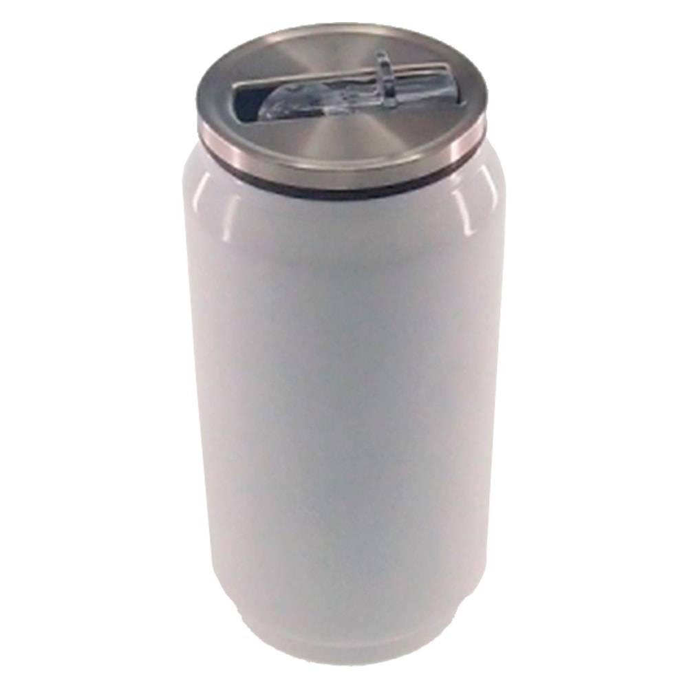 Copo Lata de Refrigerante Branco em Alumínio - 15x7 cm