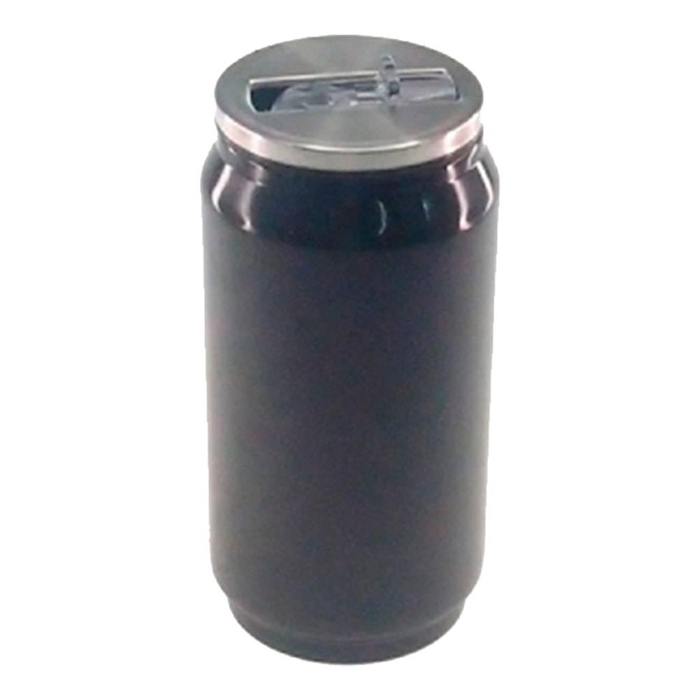 Copo Lata de Refrigerante Preto em Alumínio - 15x7 cm