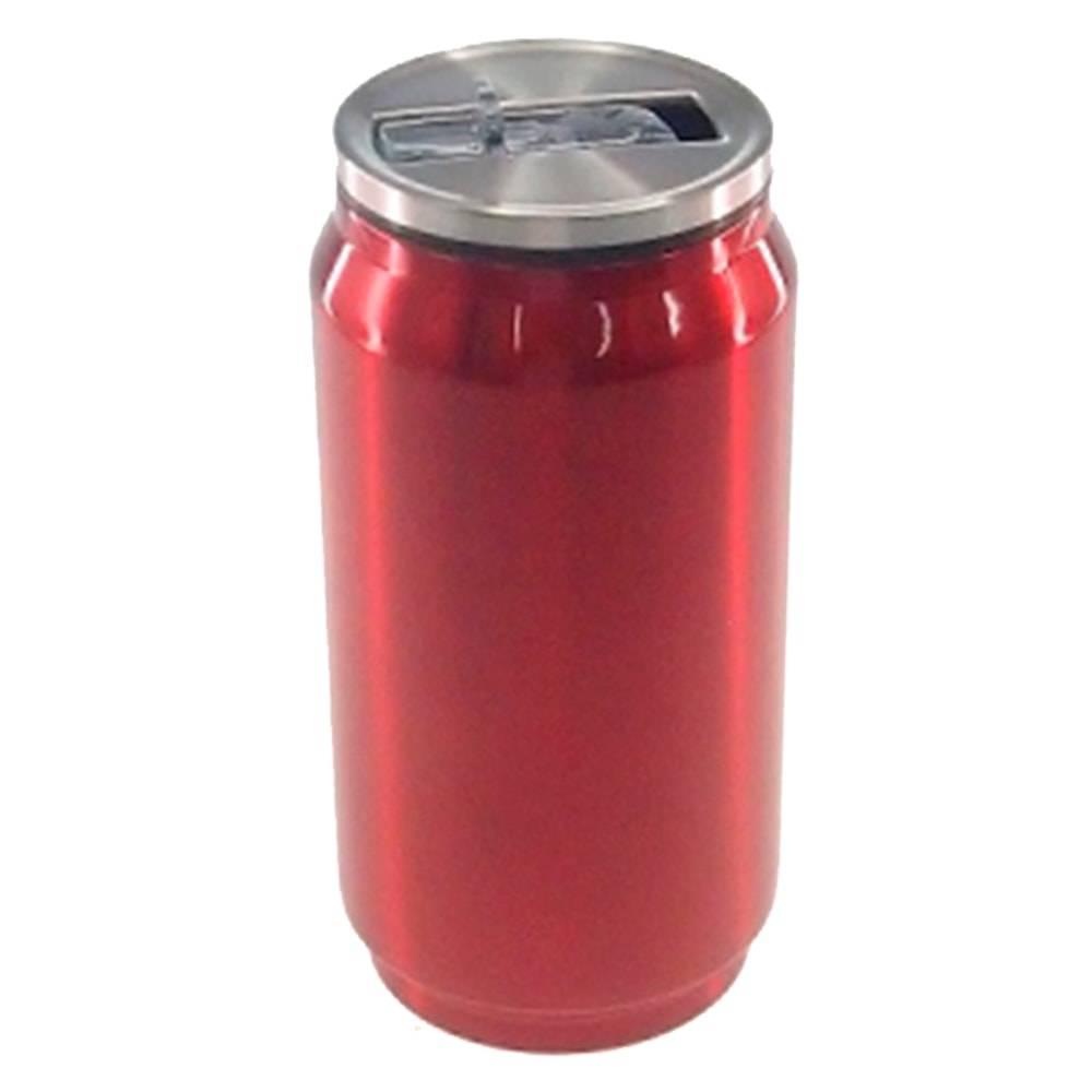 Copo Lata de Refrigerante Vermelho em Alumínio - 15x7 cm