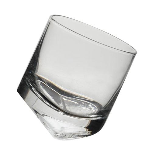 Copo Slant Transparente em Vidro - 8,5x7 cm