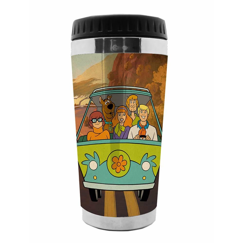 Copo Térmico Hanna Barbera Scooby Everybody In The Mistery Mac em Polipropileno - Urban - 18x8,3 cm