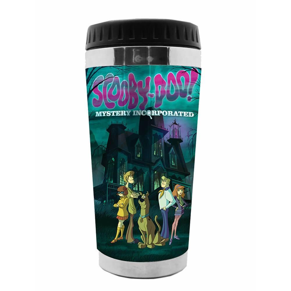 Copo Térmico Hanna Barbera Scooby In The Haunted House Colorido em Polipropileno - Urban - 18x8,3 cm