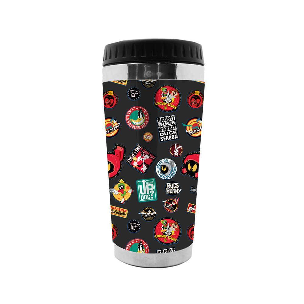 Copo Térmico Looney Tunes Buttons - 473 ml - em Polipropileno - Urban - 18x8,3 cm
