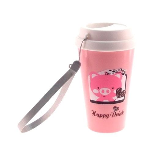 Copo/Mug Porquinho Rosa - 16x10 cm