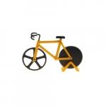 Cortador de Pizza Bike Amarelo - 18x12 cm