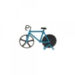 Cortador de Pizza Bike Azul - 18x12 cm