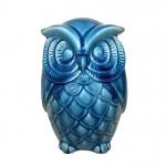 Coruja Cerâmica Azul