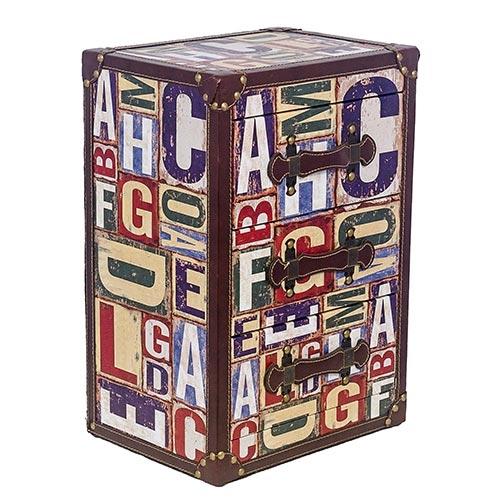 Criado-mudo Pequeno para Acessorios 3 Gavetas ABC Fullway - 50x34 cm