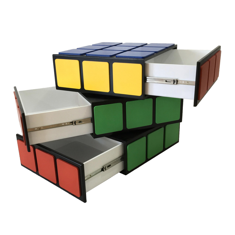 CubeSteel com Rodízio - Gavetas com Toque - MDF - 55 cm