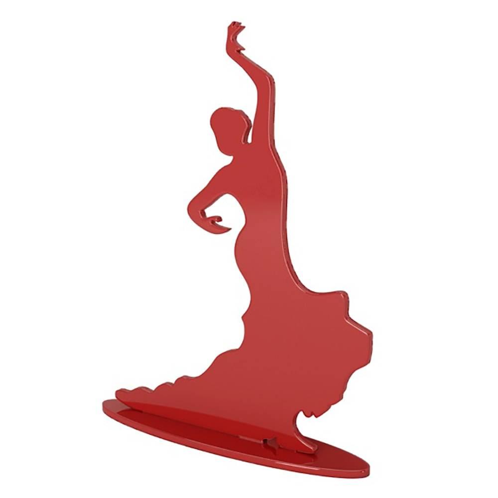 Dançarina de Tango Marsala em MDF Laqueado - 33x24 cm