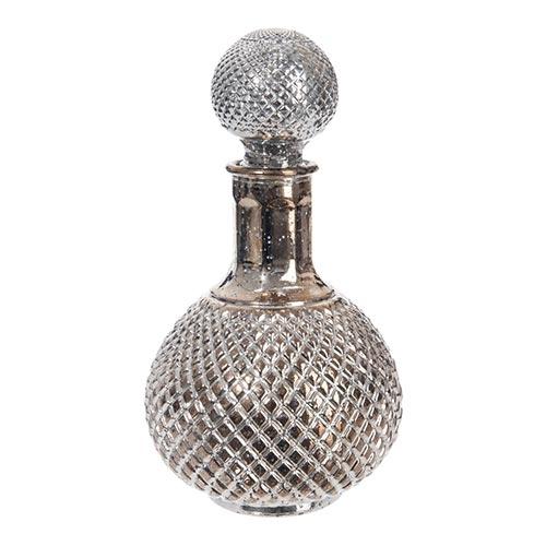 Decanter para Vinho Ball Grande Prata em Vidro - 24x14 cm