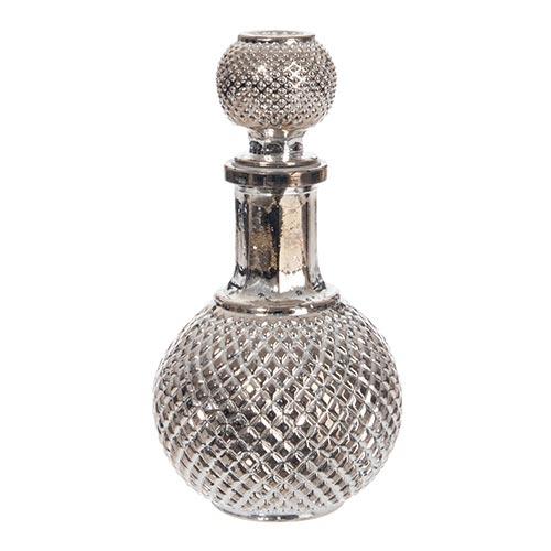 Decanter para Vinho Ball Médio Prata em Vidro - 22x10 cm
