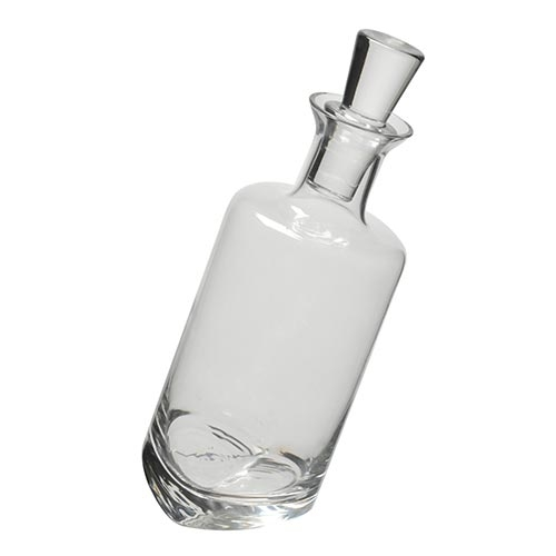 Decanter para Vinho Slant Transparente em Vidro - 24,5x5 cm