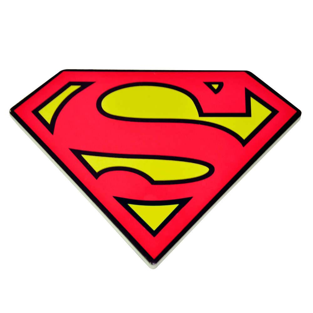 Descanso para Panela DC Comics Superman Logo Vermelho e Amarelo em Cerâmica - Urban - 20x15 cm