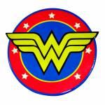 Descanso para Panela DC Comics Wonder Woman Vermelho e Amarelo em Cerâmica - Urban - 20 cm