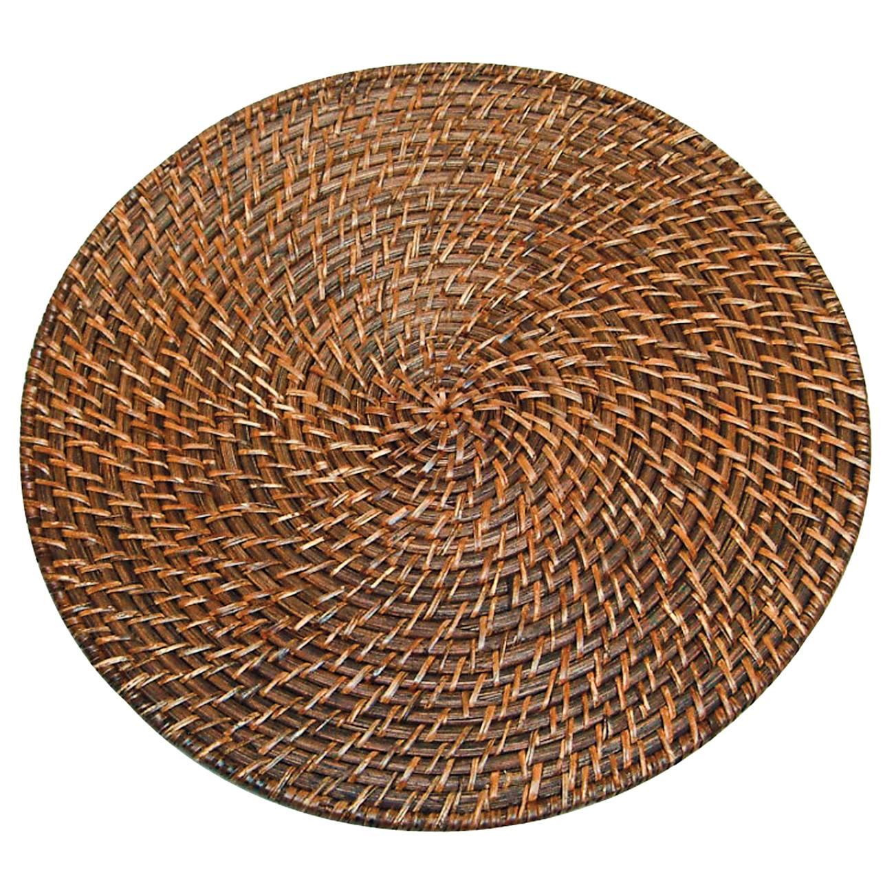 Descanso para Panelas Redondo Grande Marrom em Rattan - Prestige - 34 cm