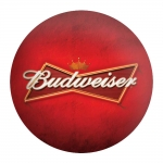 Disco de Metal Cerveja Budweiser Vermelho em Metal - 40x40 cm
