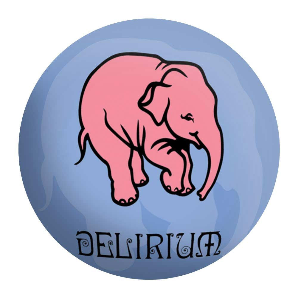 Disco de Metal Elefante Rosa Delirium em Metal - 40x40 cm