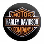 Disco de Metal Harley Davidson Company Preto em Metal - 40x40 cm