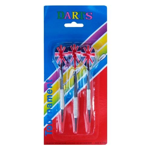 Display c/ 3 Dardos Metálicos England Darts - 25x12 cm