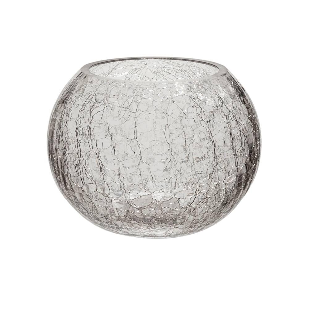 Donzela Crackle Transparente em Vidro - 15x11,5 cm