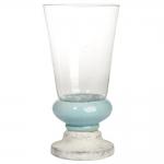 Donzela com Pé Califórnia Azul e Branco em Cerâmica