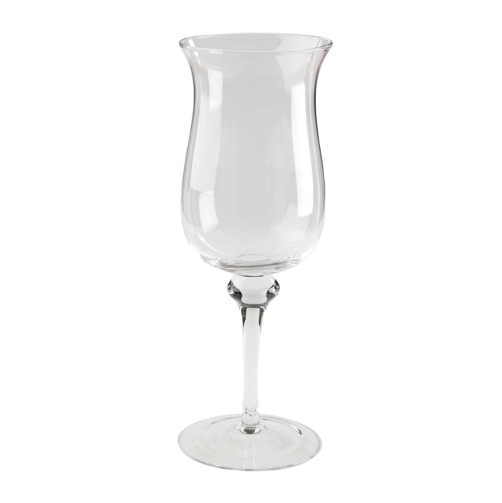 Donzela com Pé Taça Transparente em Vidro - 49x17 cm
