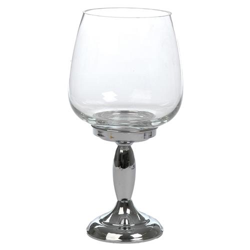 Donzela Silver Glass em Vidro - 36x18 cm