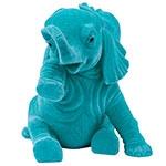Elefante Decorativo Felicidade Jade em Resina