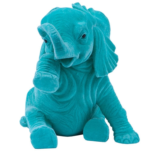 Elefante Decorativo Felicidade Jade em Resina - 15x15 cm