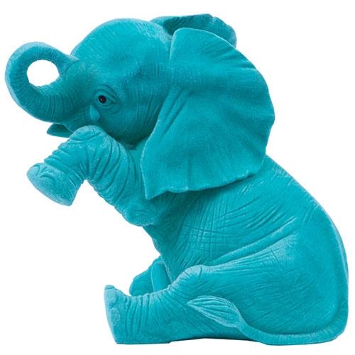 Elefante Decorativo Lágrima Jade Grande em Resina - 22x20 cm