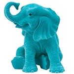 Elefante Decorativo Sentado Jade em Resina