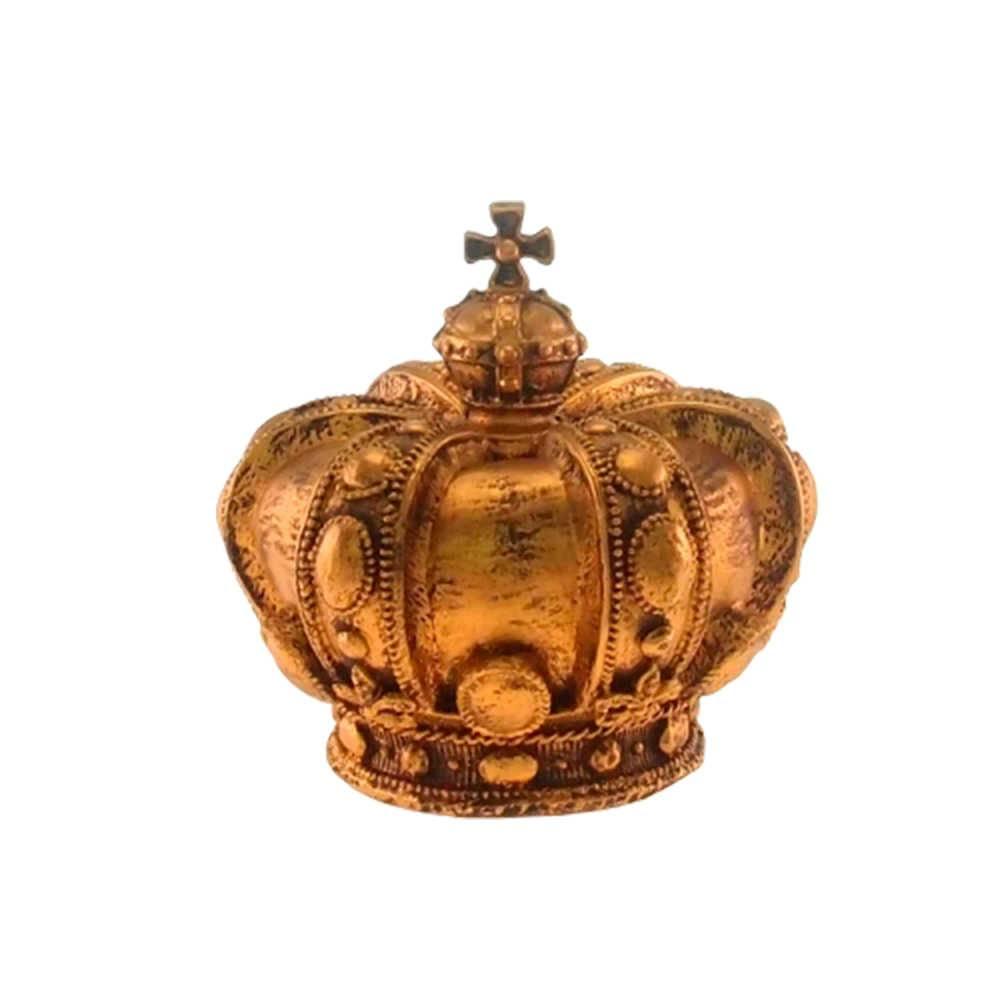 Enfeite Coroa Real Dourado Provençal em Resina - 18x17cm