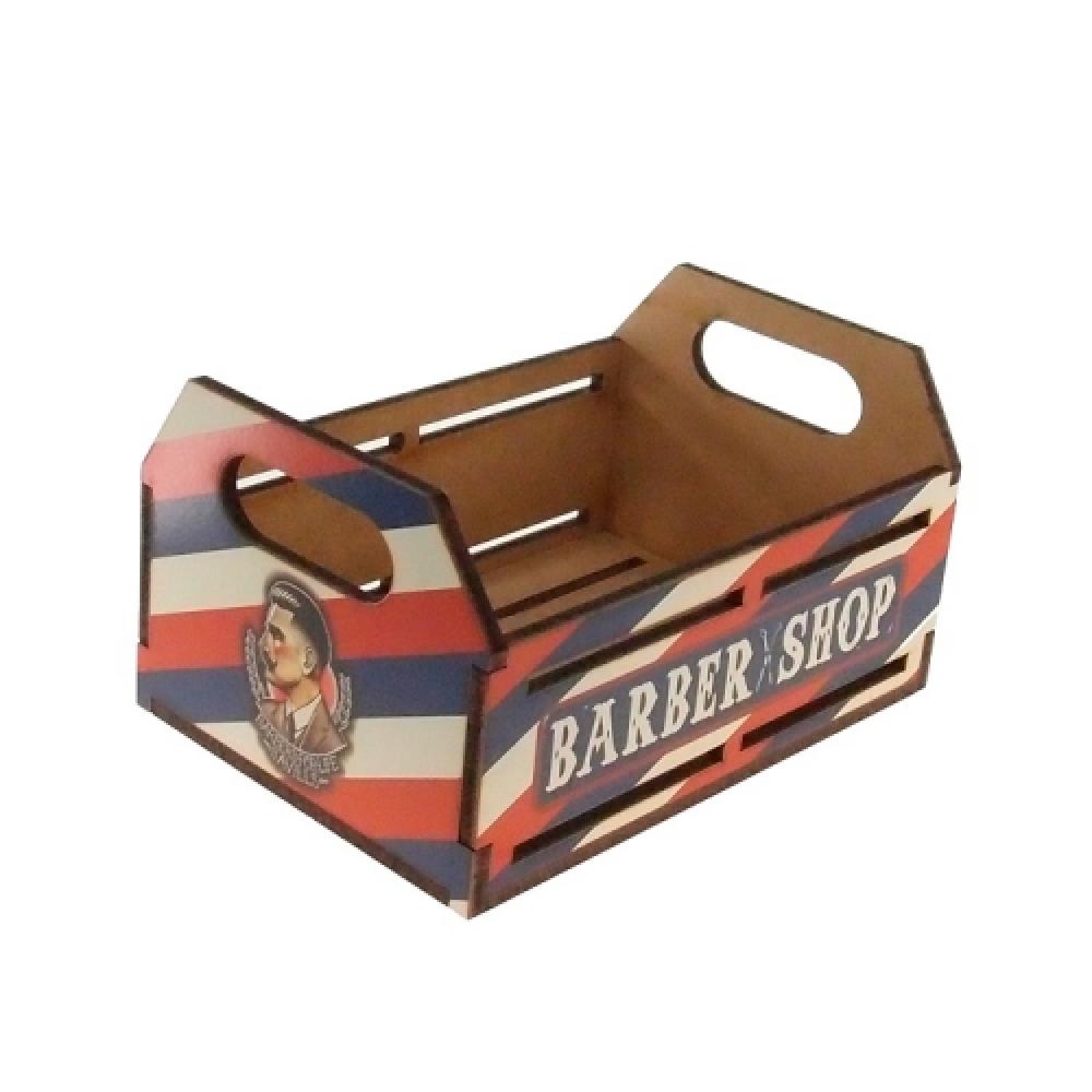 Engradado Barber Shop em MDF - 22x15 cm