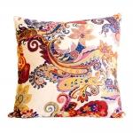 Almofada Arabescos Colorida Cores Quentes em Tecido