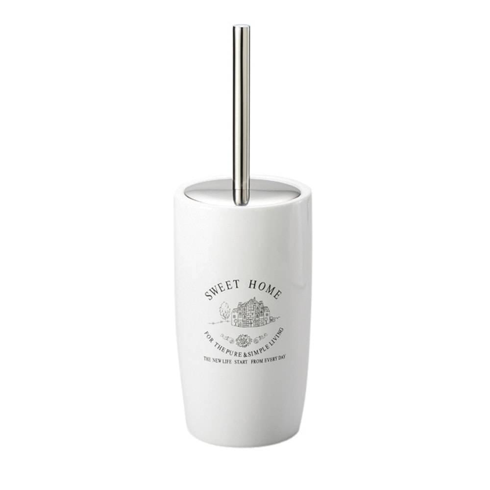 Escova Sanitária Sweet Home com Suporte de Porcelana - Lyor Classic - 35x12 cm