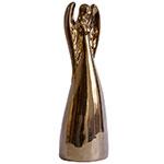 Escultura Anjo Ceramic Golden Grande - 33x11 cm