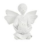 Escultura Anjo com Maça Branco