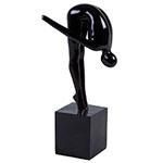 Escultura Atletic Man Black Pequena em Resina - 32x17 cm