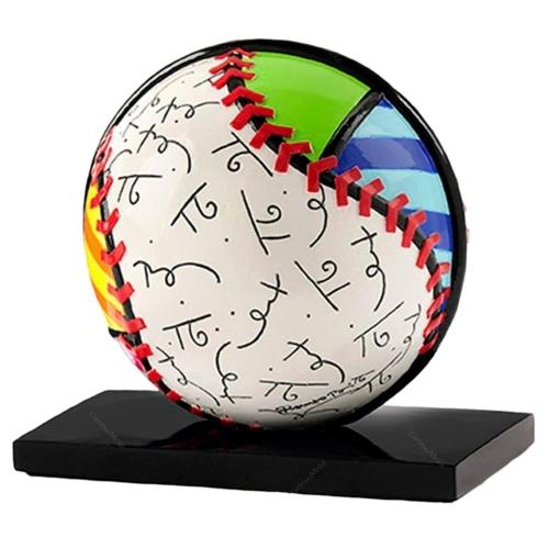 Escultura Baseball Sport - Romero Britto - em Resina - 14x12 cm
