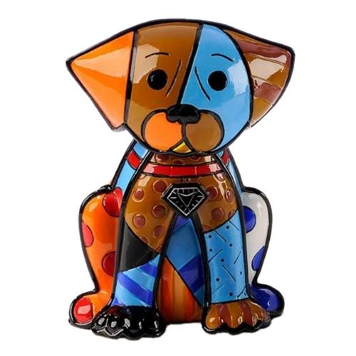 Escultura Boxer - Romero Britto - em Resina - 15x11 cm