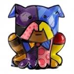 Escultura Bulldog - Romero Britto - em Resina - 14x12 cm