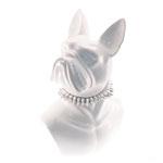Escultura Busto Dog Branco em Cerâmica