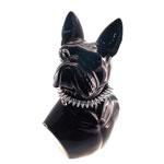 Escultura Busto Dog Preto em Cerâmica