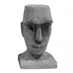 Escultura Busto Homem Pequena em Madeira - 21x12,5 cm