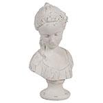 Escultura Busto Luxo em Resina - 30x17 cm