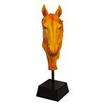 Escultura Cabeça de Cavalo Laranja Fullway - 72x34 cm