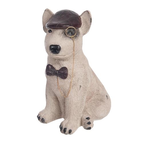 Escultura Cachorro Sherlock em Cerâmica - 24x18 cm