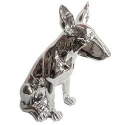 Escultura Dog Bull Terrier Prata em Resina - Urban R$ 699,95 R$ 479,95 9x de R$ 53,33 sem juros