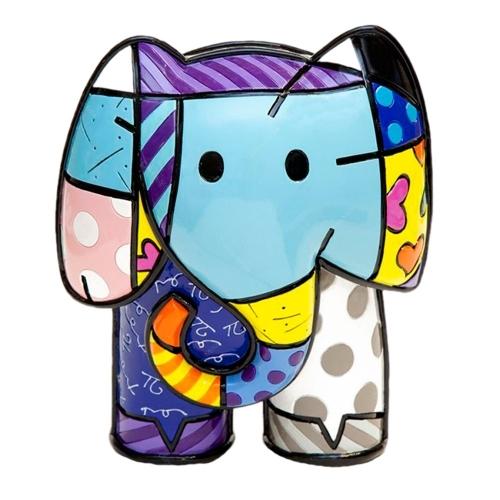 Escultura Elephant Índia - Romero Britto - em Resina - 21x18 cm